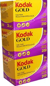 Kodak Gold 200 iso 35mm 36 exposure Colour Print Camera Film 3 PACK SPECIAL